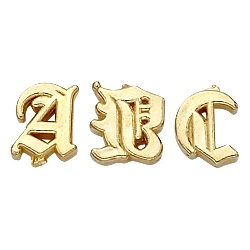 14k Yellow 4.49 Mm Old English Initial T