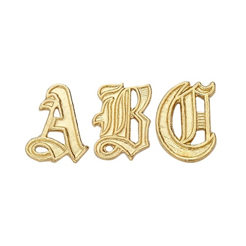14k Yellow 9.80 Mm Old English Initial G
