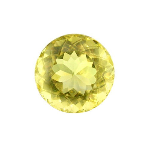 Synthetic Round Yellow Topaz 2 Mm