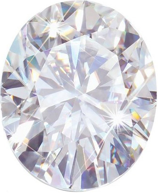 Oval Moissanite: 8.0x6.0mm