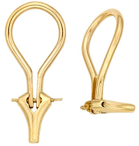 18k Yellow Heavy Extra Large Omega Earring Clip
