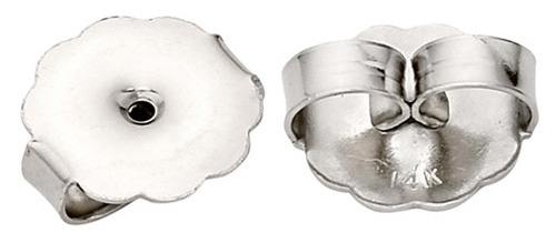 "Sterling Silver Plain Jumbo Friction Earring Back: 0.030"" - 0.040"" Hole"