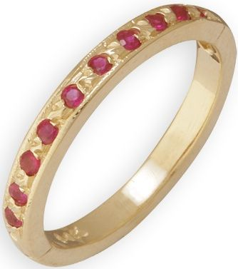 14k Yellow Gold Ruby Toe Ring: Size 1.5