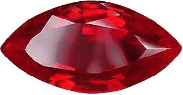 Marquise Synthetic Ruby: 10.0 x 5.0mm, 1.00cts
