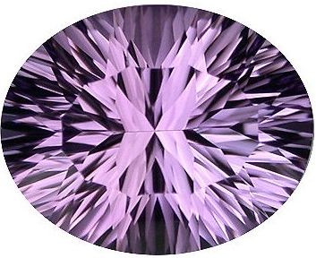 Oval Synthetic Amethyst: 14.0mm x 12.0mm
