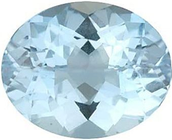 Oval Synthetic Aquamarine: 9.0mm x 7.0mm, 2.50cts