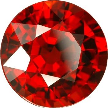 Synthetic Round Garnet: 8.0mm, 1.90cts