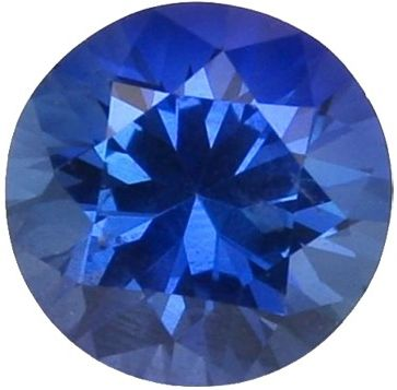 Synthetic Round Sapphire: 7.0mm, 1.25cts