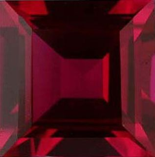 Square Synthetic Ruby: 10.0mm