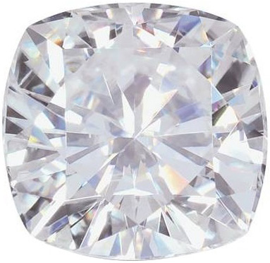 Cushion Moissanite: 4.00mm