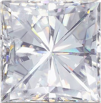 Princess Cut Moissanite: 6.00mm