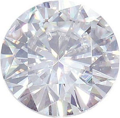 Round Moissanite: 9.5mm