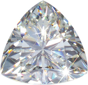Trillion Cut Moissanite: 6.00mm