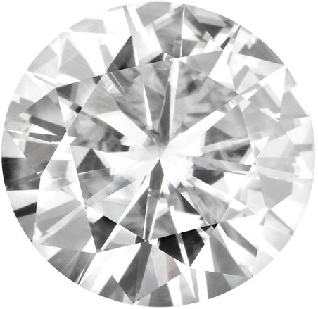 Forever Brilliant Round Moissanite: 6.5mm
