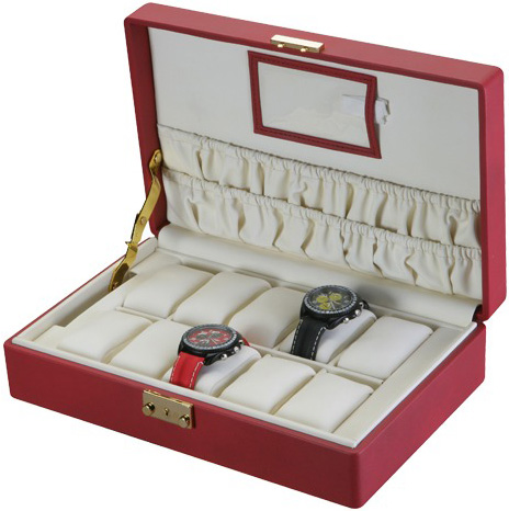 10-Watch Storage: Red
