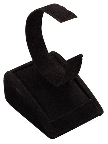 Men's Watch Stand: Black Suede