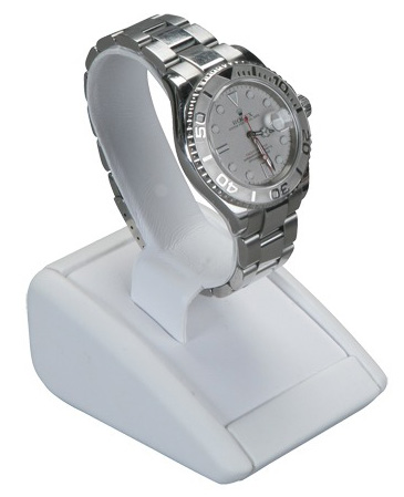 Men's Watch Stand: White Leather