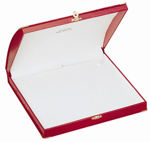 Diana Large Necklace Box: Red