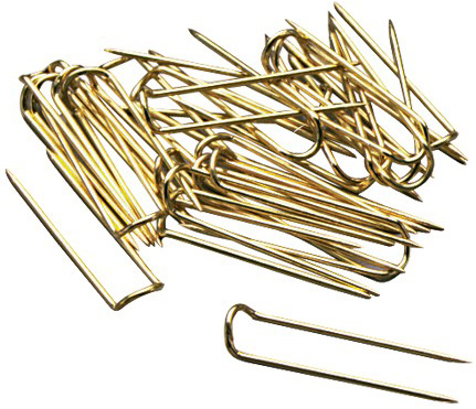 Brass U-Pins: 100 Pieces