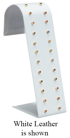 12 Pair Earring Ramp Stand: Gray Suede