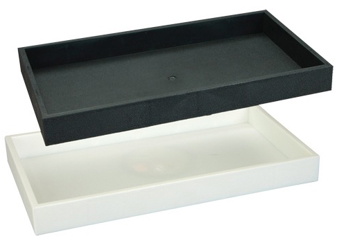 1 5 Quot High Plastic Tray White 1 5 Quot High Plastic Tray