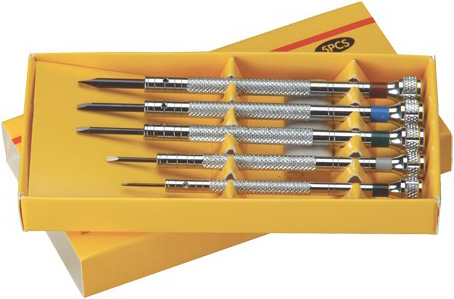 Screwdrivers in Box: Set of 5