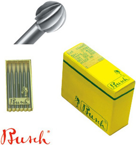 Busch Round Burs: 1.0 mm Size, Pack of 6