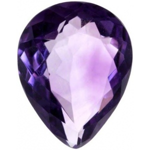 Pear Shape Synthetic Amethyst: 10.0mm x 7.0mm, 2.00cts