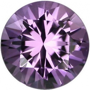 Synthetic Round Amethyst: 5.0mm