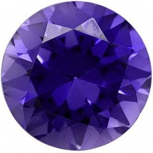 Round Synthetic Tanzanite: 7.8mm, 1.90cts