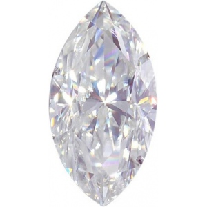 Marquise Moissanite: 13.0x6.5mm
