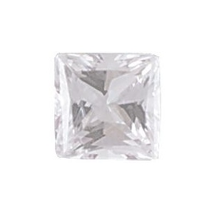 AAA Rated Princess Cut Cubic Zirconia: 6.0mm, 1.25cts