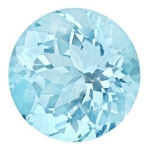 Synthetic Round Aquamarine: 6.5mm