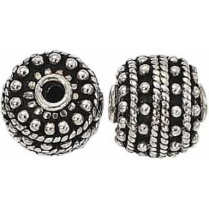 Bali Bead Sterling Silver: 12.0 mm Size