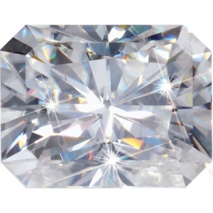 Radiant Cut Moissanite: 5.0x3.0mm