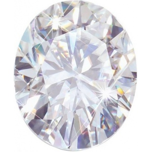 Oval Moissanite: 11.0x9.0mm