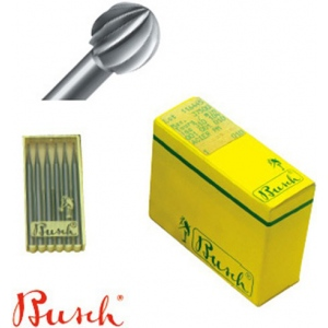 Busch Round Burs: 0.4 mm Size, Pack of 6