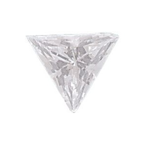 AAA Triangle Cubic Zirconia: 7.5mm, 1.00cts