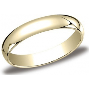 14k Yellow Gold 4mm Half Round Band: Size 6.0