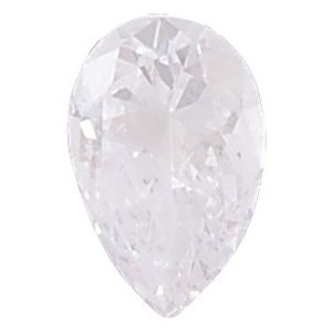 AAA Rated Pear Shape Cubic Zirconia: 7.0 x 5.0mm, 0.75cts