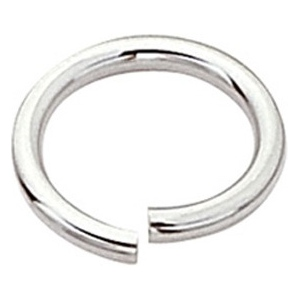 "14k White Open Jump Ring: 0.030"" Wire x 5.8mm Outside Diameter"