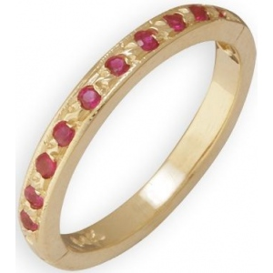 14k Yellow Gold Ruby Toe Ring: Size 2.0