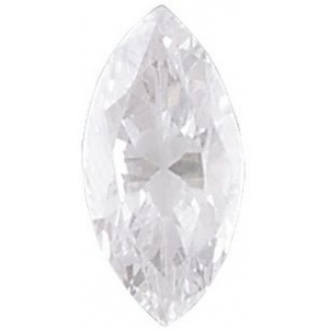 AAA Rated Marquise Cubic Zirconia: 9.0 x 4.5mm, 0.75cts