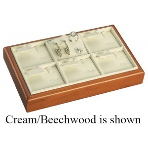 6-Set Ring, Earring & Pendant Tray: White/Cherry
