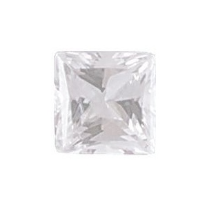 AAA Rated Square Cubic Zirconia: 6.0mm, 1.25cts