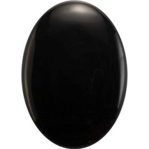 Oval Flat Back Onyx: 22.0mm x 16.0mm