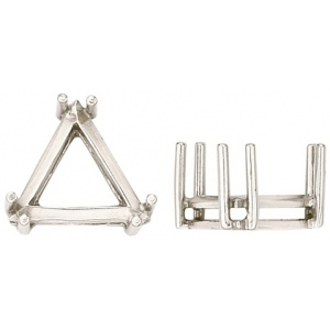 14k White 6 Prong Triangle Setting: 8.0mm
