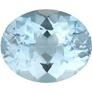 Oval Synthetic Aquamarine: 10.0mm x 8.0mm, 3.50cts