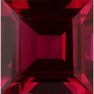 Square Synthetic Ruby: 7.00mm