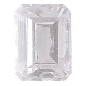 AAA Rated Emerald Cut Cubic Zirconia: 9.0 x 7.0mm, 2.50cts
